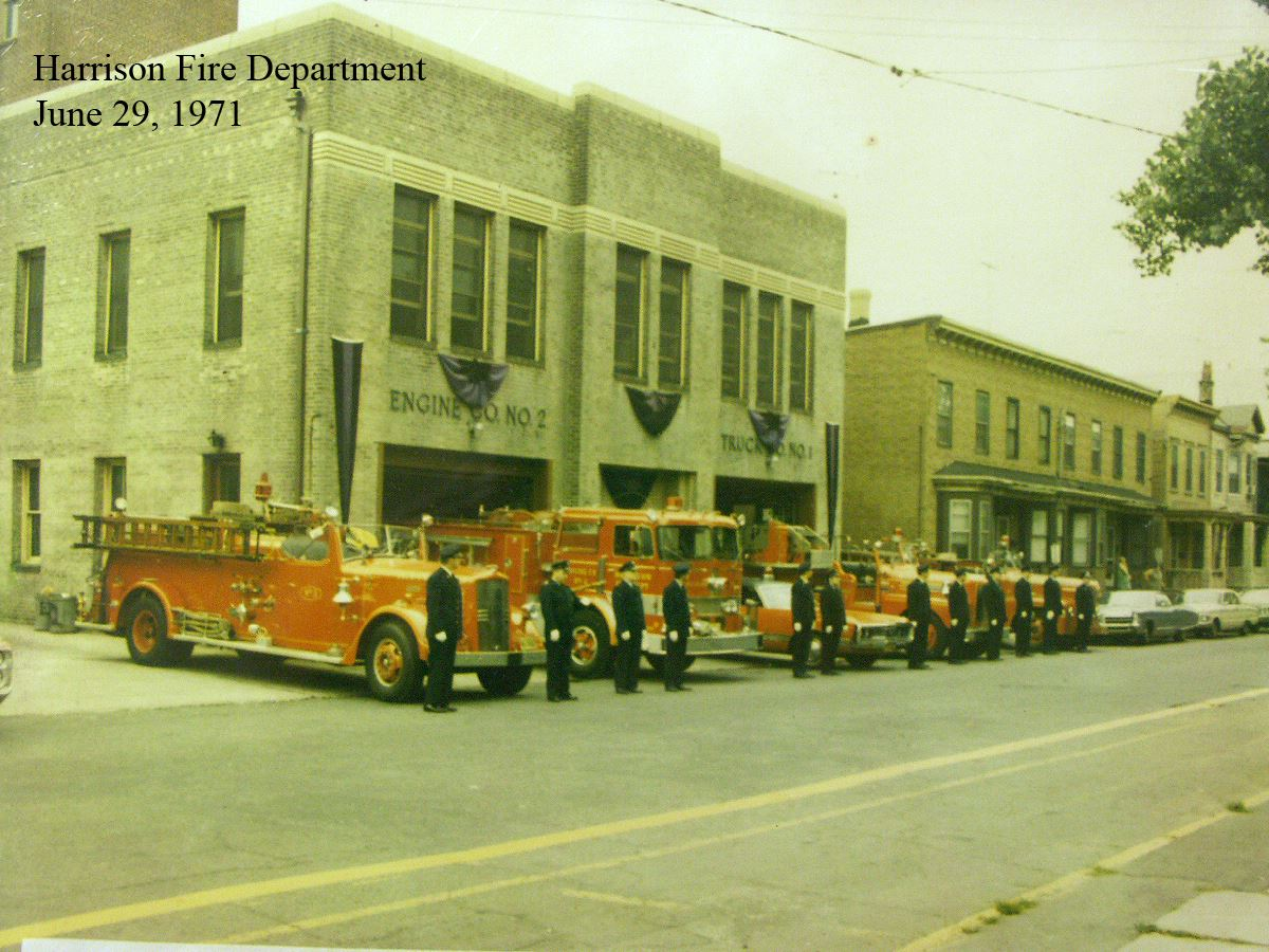 Harrison Fire Department Members and Vehicles June 29, 1971