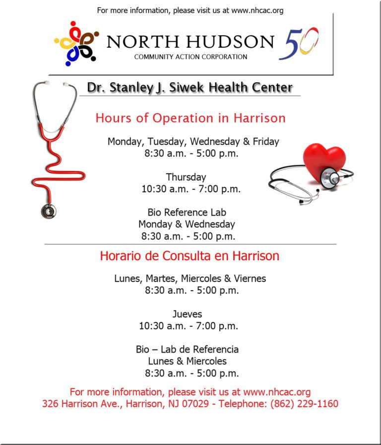 Dr. Stanley J. Siwek Health Center Flyer