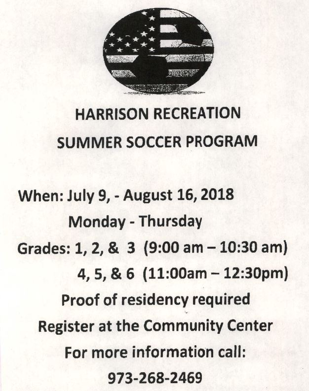 Recreation Summer Soccer Program