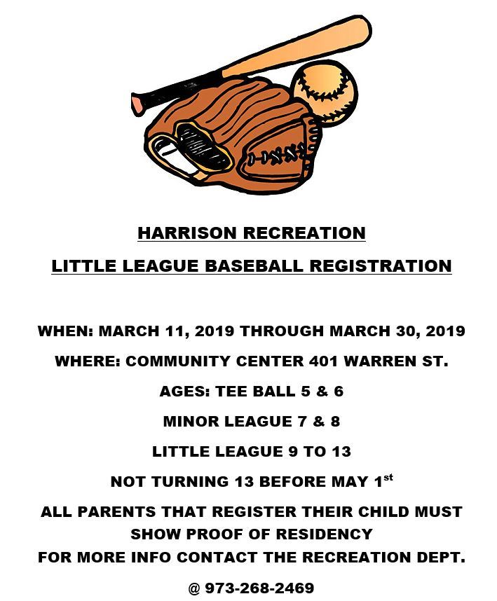 Recreation Little League Baseball Registration