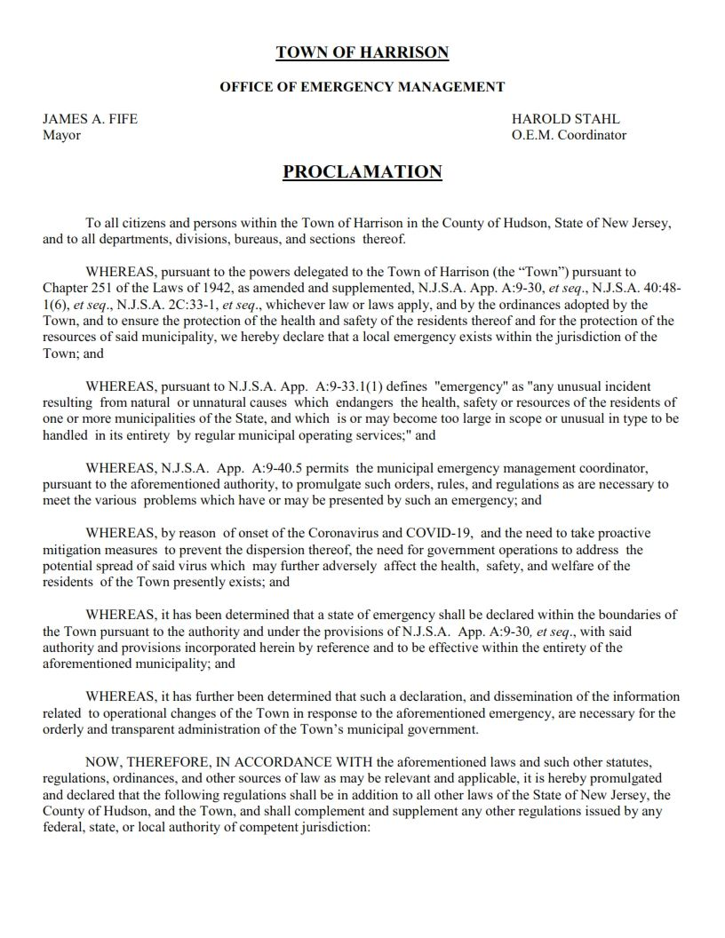 OEM Emergency Proclamation 03-16-2020_001